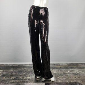 Joseph Ribkoff Black Sequined Pants Size 8